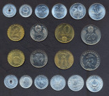 UNGARIA SET COMPLET MONEDE 2+5+10+20+50 Filler 1+2+5+10+20 Forint 1959-1989 UNC