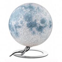 Glob Luna iluminat, 30 cm, detalii topografice, National Geographic