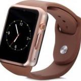 SmartWatch A1 - Watch Brown Edition, microSIM, microSD, camera (nou, factura)