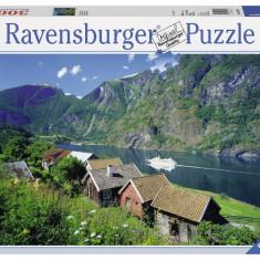 Puzzle Ravensburger FIORDUL SOGNEFJORD, NORVEGIA 3000 piese