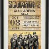 Poster Scorpions Vintage Look Inramat A4