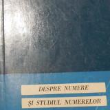 Despre numere si studiul numerelor de G. N. Berman - Carte Matematica