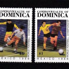 Dominica 1986 sport fotbal MI 949-952 MNH w45 - Timbre straine, Nestampilat