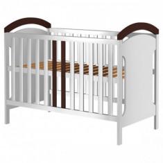 Patut din Lemn Hansell Alb Venghe - Patut lemn pentru bebelusi