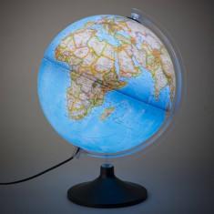 Glob geografic iluminat Carbon Clasic, 30 cm, National Geographic