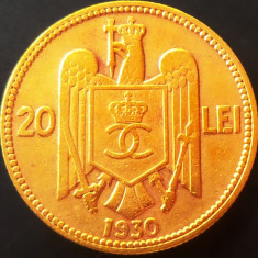 Moneda 20 Lei - ROMANIA, anul 1930 *cod 1528 (Monetaria Londra) - Moneda Romania