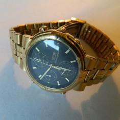 Ceas barbatesc SEIKO Chronograph, data, ALARMA, Sport, Quartz, Titan, Cronograf