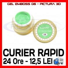 GEL EMBOSS GD COCO 06 - PICTURA 3D PT LAMPA UV, MANICHIURA GEL, GELURI COLOR, Gel colorat