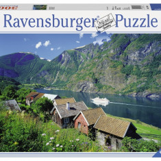 Puzzle FIORDUL SOGNEFJORD, NORVEGIA 3000 piese