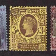 Marea Britanie 1887 - Uzuale, Mi86-91, 93-94, 97 stampilate