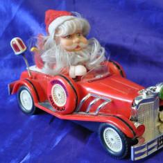 Christmas Car. Masinuta din plastic cu baterii. 30 cm. Jucarie de colectie!