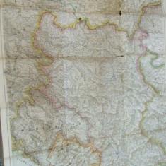 Serbia 1913 - 1914 Romania Timisoara Banat Bulgaria Ungaria harta color - Harta Romaniei