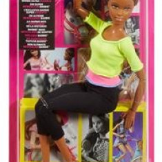 Papusa Mattel Barbie Endless Moves Doll With Yellow Top