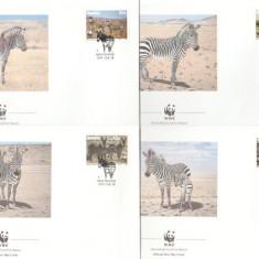 Namibia 1991 - zebra WWF, serie FDC