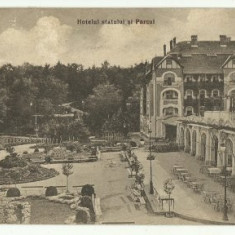 Baia Ocna 1931 - hotel Parc - Carte Postala Transilvania dupa 1918