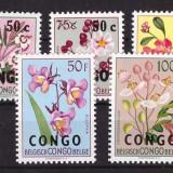 Congo 1960 - Flora, serie cu supr. neuzata incompleta