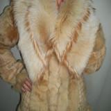 Jacheta blana, eleganta de culoare crem deschis (Culoare: BEJ, Marime: M/l) - Palton dama