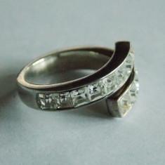 Inel de argint cu zirconii -259 - Inel argint