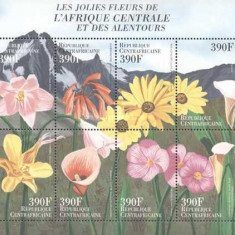 Africa Centrala 2000 - Flori, orhidee, bloc neuzat - Timbre straine