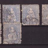 Elvetia 1867/81 - Mi33a lot 9 marci stampilate cota tot.Mi135EUR