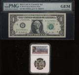 SUA - 1 $ 2015 - Set Moneda si Bancnota Comemorativa 9/11 - Certificat si Gradat