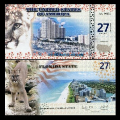 SUA(Florida) 2016 - 27 dollars UNC - Carte Postala Muntenia 1904-1918