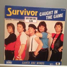 SURVIVOR - COUGHT IN THE GAME (1983/BELLAPHON REC/RFG) - VINIL MaxiSingle/ca NOU - Muzica Rock universal records