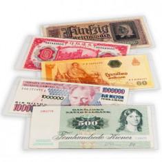 Posete transparente pentru bancnote PREMIUM, 210 x 127 mm - album clasor