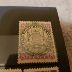 Anglia/colonii/rhodesia 1896-97 blazoane/ 8 P/ MLH, Nestampilat
