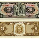 Ecuador 1988 - 20 sucres UNC - bancnota america