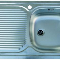 Chiuveta bucatarie inox satinat SDN 711 Franke, pentru masca, picurator stanga, 800x500mm, ventil 2