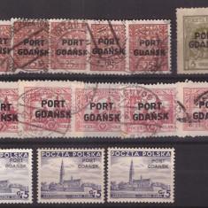 Gdansk 1925-1937 lot marci stampilate si nestampilate