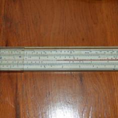 Rigla de calcul tip A politehnica C.E.I.L. Electrotehnica Timisoara 1971, 27cm