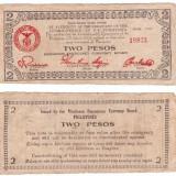 Filipine - Mindanao 1944 - 2 pesos guerilla banknote - bancnota asia