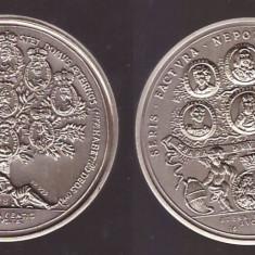 Medalie moartea Imparatului Leopold 1961 - restrike 1978, argint - Medalii Romania