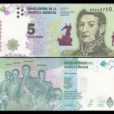 Argentina 2014 - 5 pesos UNC