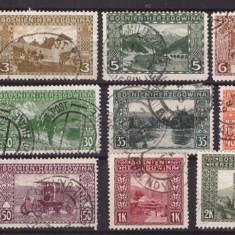 Bosnia Herzegovina 1906 Uzuale, serie incompleta, stampilata