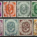 Bundes 1951 - New Daily Stamp, serie stampilata - Timbre straine