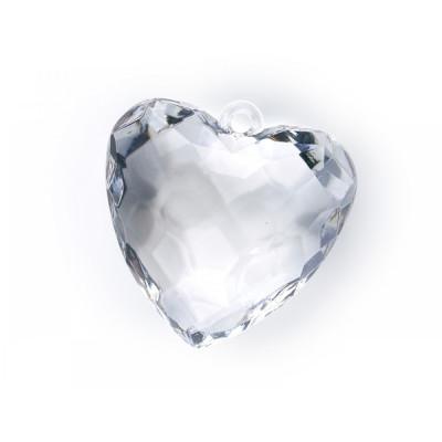 Pandantiv inima, transparent, 5buc/set foto
