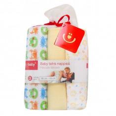 Bobobaby scutece textile pentru bebelusi 3 buc. - galben - Scutece unica folosinta copii
