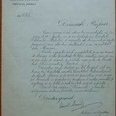 Arhivele Statului , Adresa semnata olograf de C-tin Moisil catre Oprescu , 1936