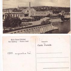 Ocna Sibiului 1934 - Casinoul si baile calde, ilustrata
