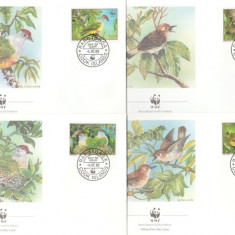 Cook Islands 1989 - pasari WWF, serie FDC