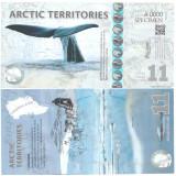 Arctic Territories 2013 - 11 dollars UNC, polimer