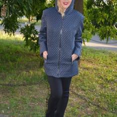 Jacheta confortabila de zi, culoare bleumarin, masura mare (Culoare: BLEUMARIN, Marime: 54) - Jacheta dama