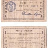 Filipine - Mindanao 1944 - 1 peso0 guerilla banknote - bancnota asia