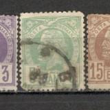 Romania.1885/88 Carol I-Vulturi hartie alba XR.9 - Timbre Romania, Stampilat