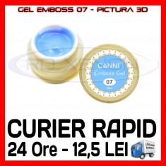 GEL EMBOSS GD COCO 07 - PICTURA 3D PT LAMPA UV, MANICHIURA GEL, GELURI COLOR
