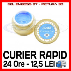 GEL EMBOSS GD COCO 07 - PICTURA 3D PT LAMPA UV, MANICHIURA GEL, GELURI COLOR, Gel colorat