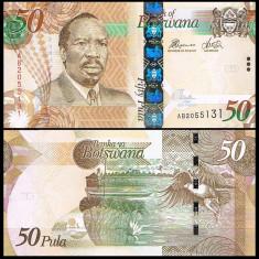 Botswana 2010 - 50 pula UNC - Colier argint